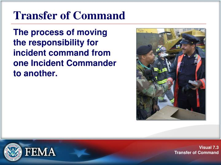 Transfer of command