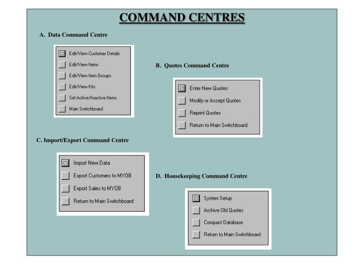 COMMAND CENTRES
