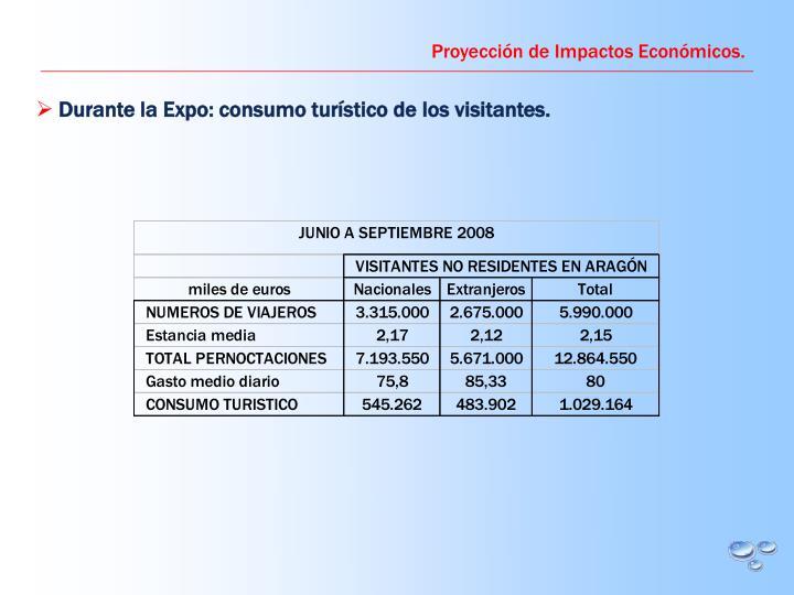Proyección de Impactos Económicos.
