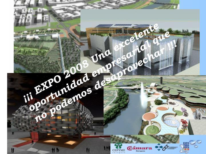 ¡¡¡ EXPO 2008 Una excelente oportunidad empresarial que no podemos desaprovechar !!!