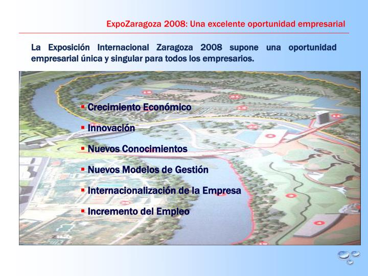 ExpoZaragoza 2008: Una excelente oportunidad empresarial