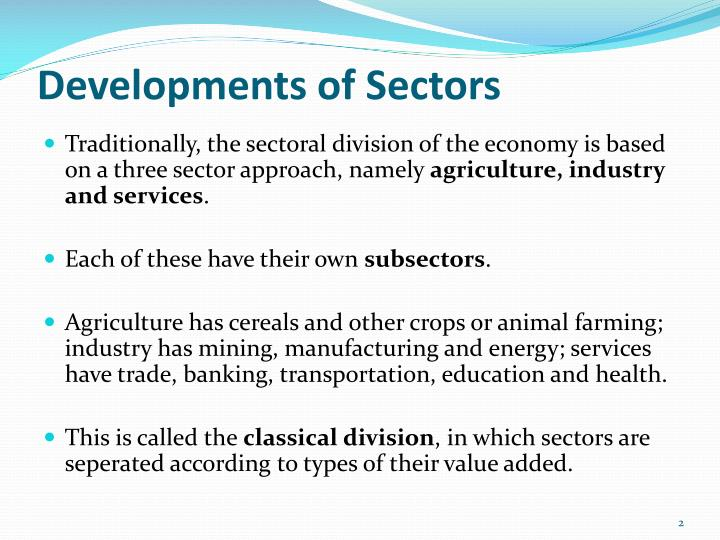 Developments of sectors