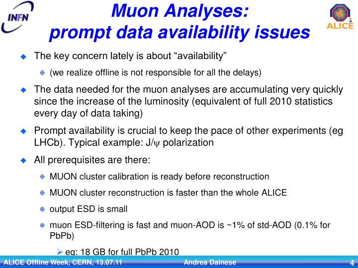 Muon Analyses: