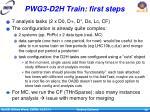 pwg3 d2h train first steps