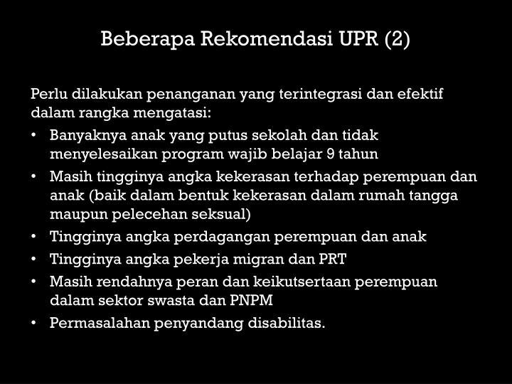 Beberapa Rekomendasi UPR (2)