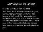 non derogable rights