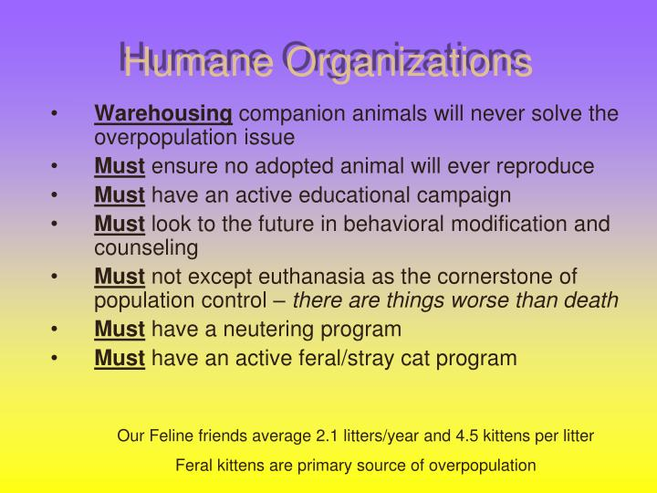 Humane Organizations
