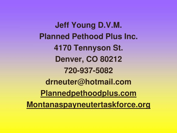 Jeff Young D.V.M.