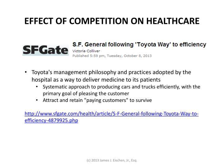 EFFECT OF COMPETITION ON HEALTHCARE