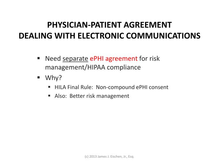 PHYSICIAN-PATIENT AGREEMENT