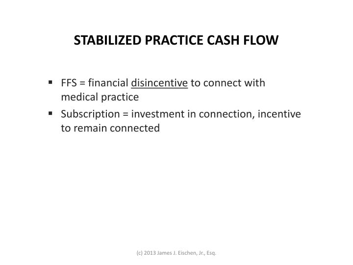 STABILIZED PRACTICE CASH FLOW