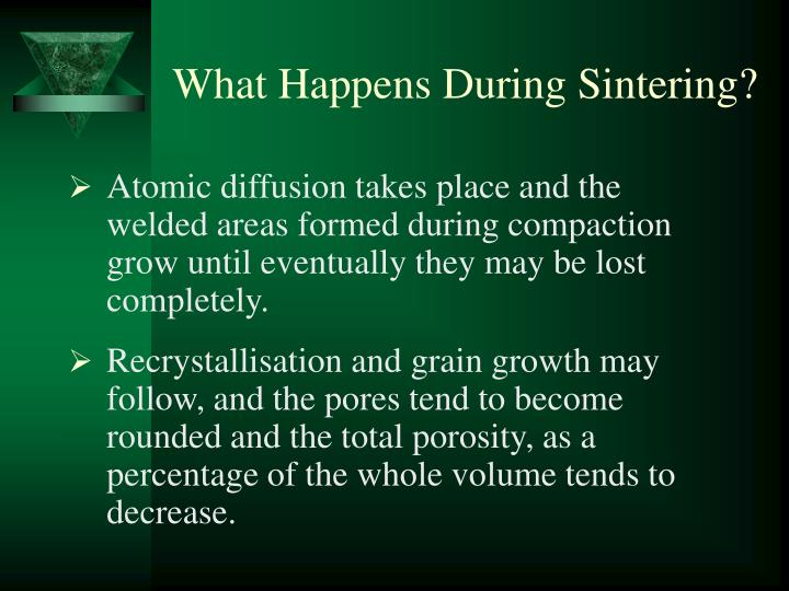 What Happens During Sintering?