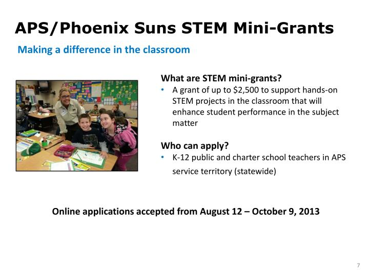 APS/Phoenix Suns STEM Mini-Grants