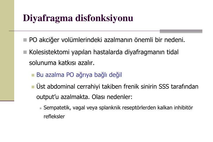 Diyafragma disfonksiyonu