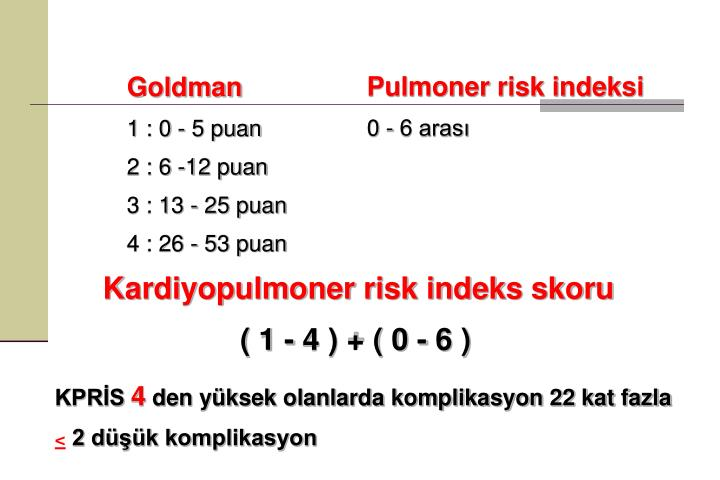 Pulmoner risk indeksi