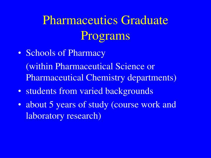 Pharmaceutics Graduate Programs