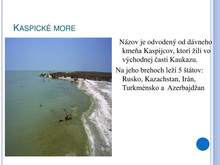 Kaspické more