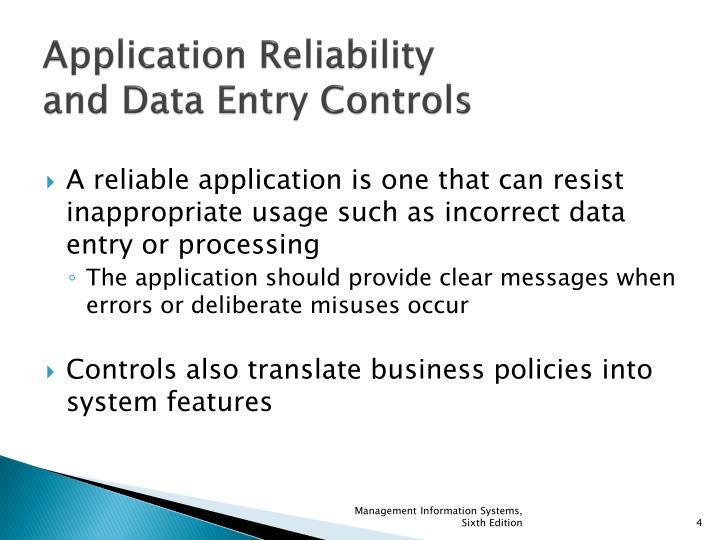 Application Reliability