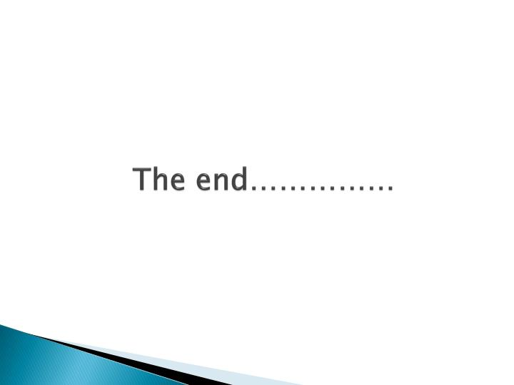 The end……………