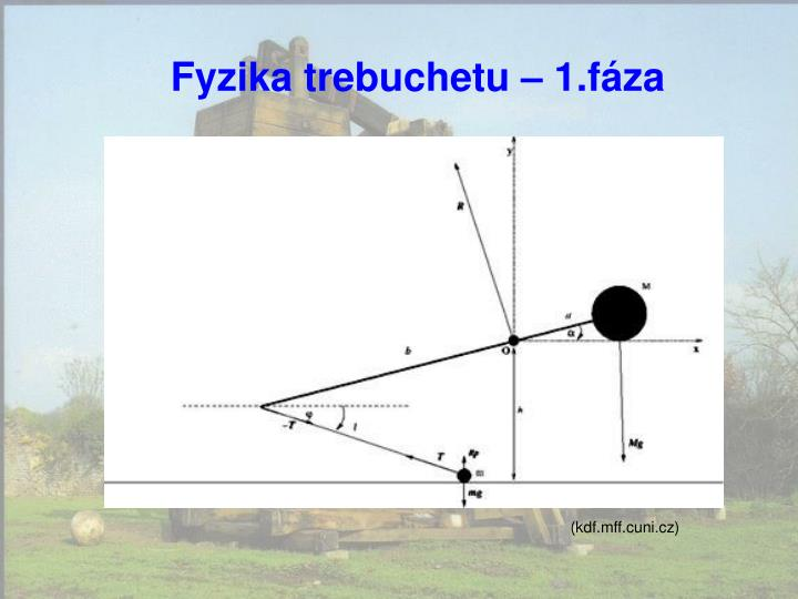 Fyzika trebuchetu – 1.fáza