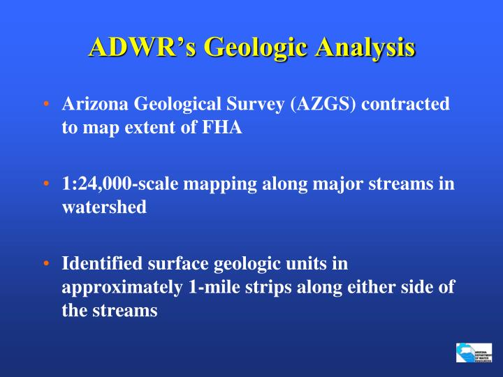 ADWR's Geologic Analysis