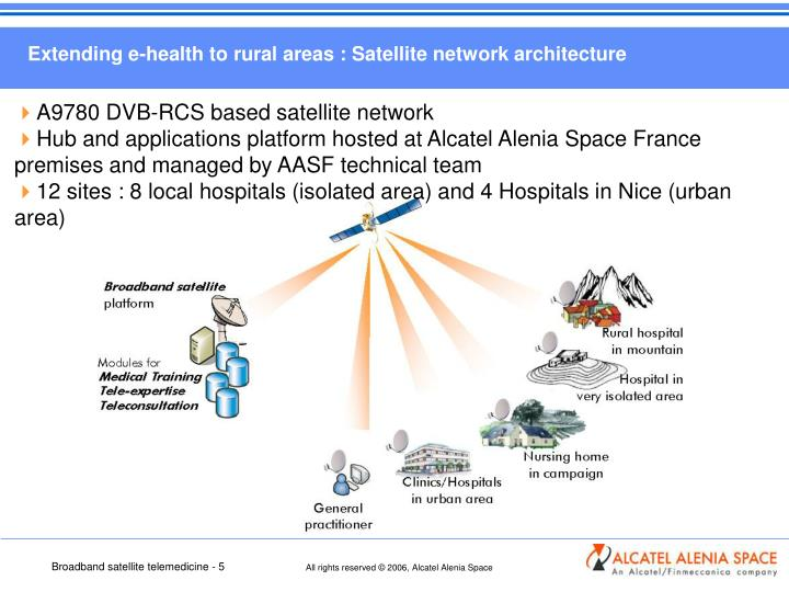 Extending e-health to rural areas : Satellite network architecture