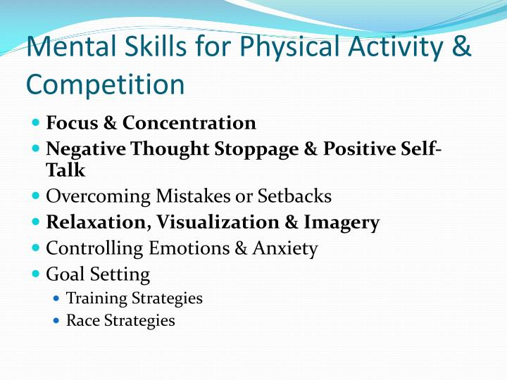 Mental Skills for Physical Activity & Competition