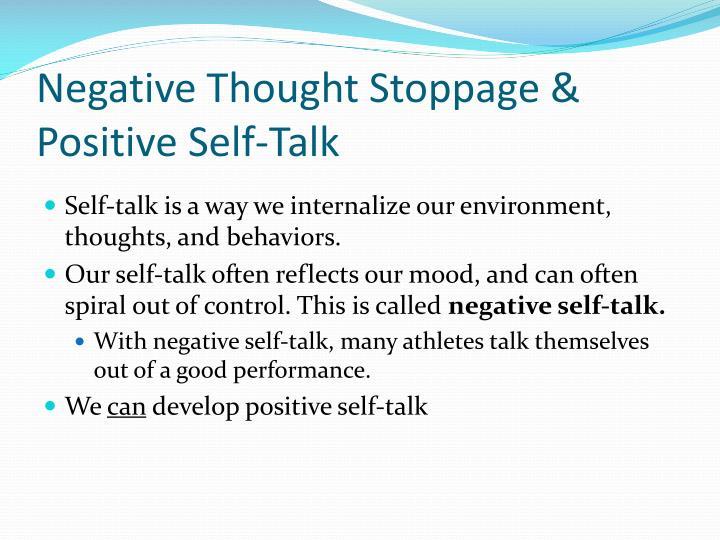 Negative Thought Stoppage & Positive Self-Talk