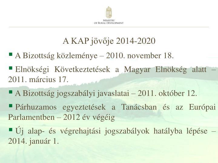 A KAP jövője 2014-2020