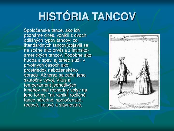 HISTÓRIA TANCOV