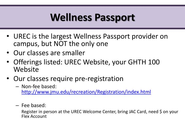 Wellness Passport