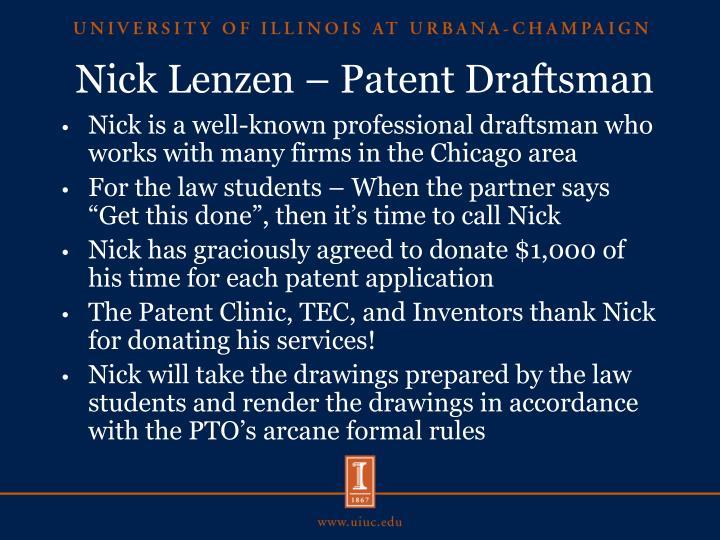 Nick Lenzen – Patent Draftsman