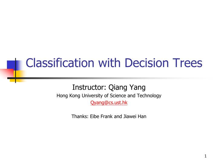 Classification with decision trees