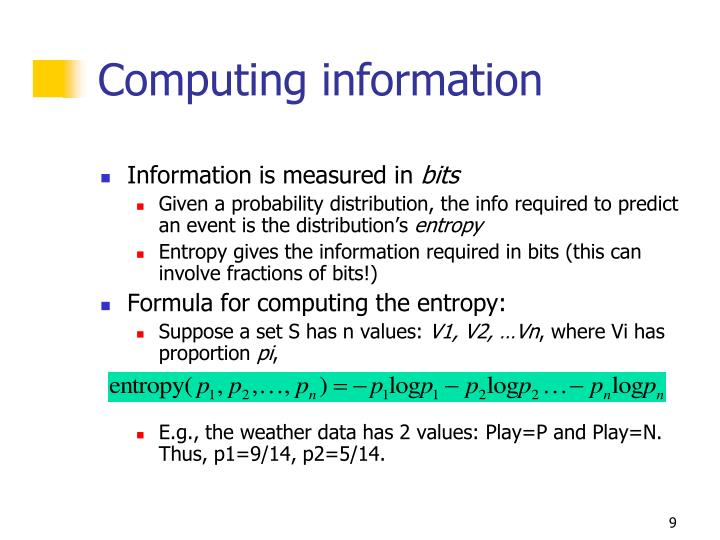 Computing information