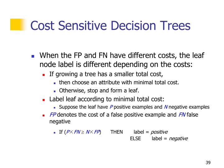 Cost Sensitive Decision Trees