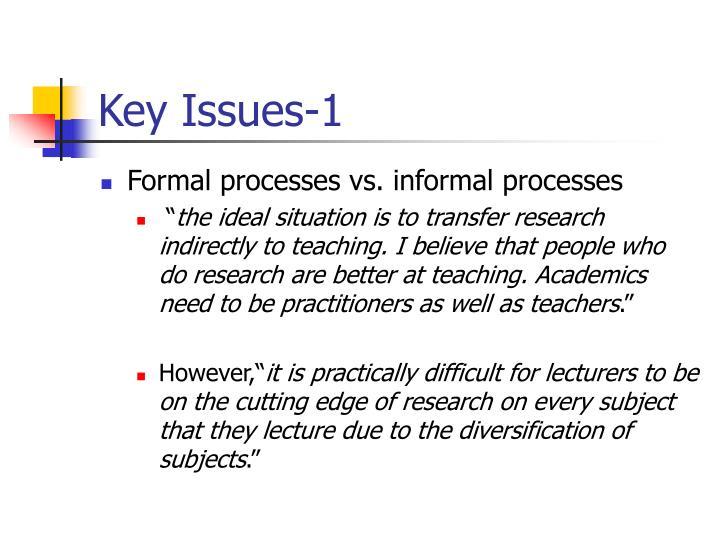 Key Issues-1