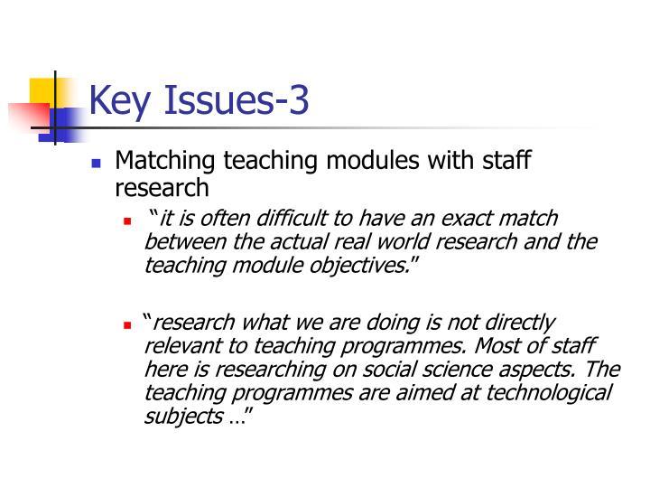 Key Issues-3