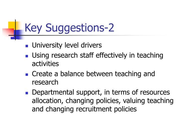 Key Suggestions-2