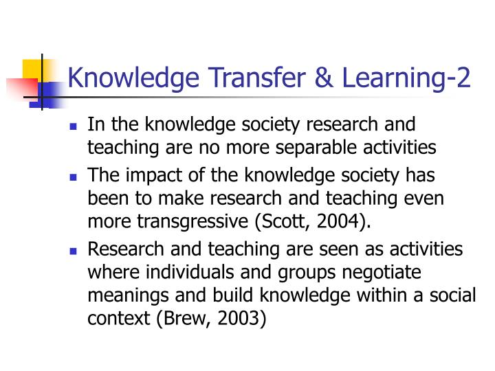 Knowledge Transfer & Learning-2
