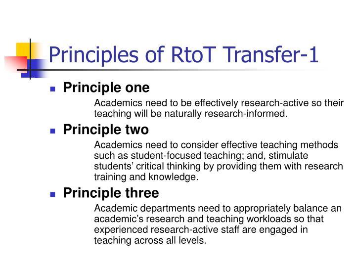 Principles of RtoT Transfer-1