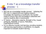 r into t as a knowledge transfer process 1
