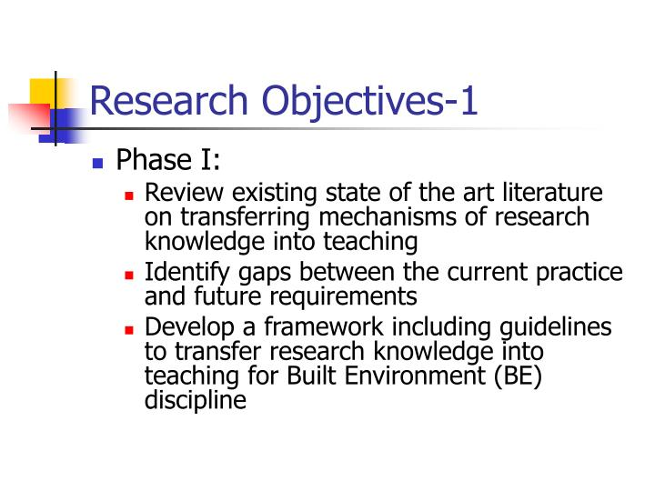 Research Objectives-1