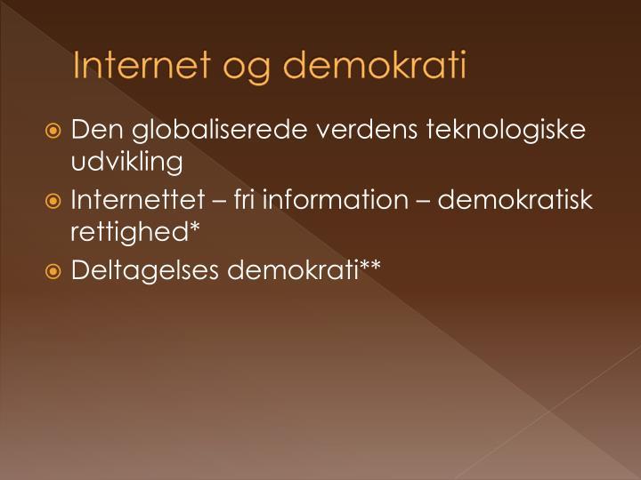Internet og demokrati