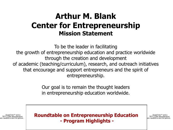 Arthur M. Blank