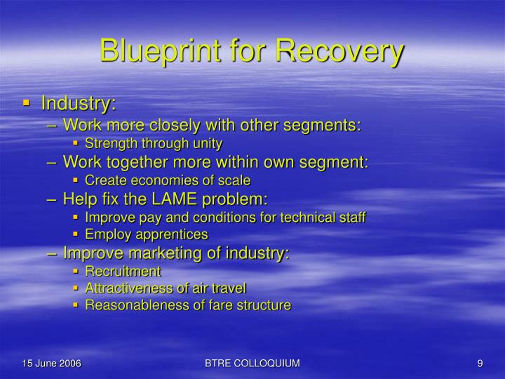 Blueprint for Recovery