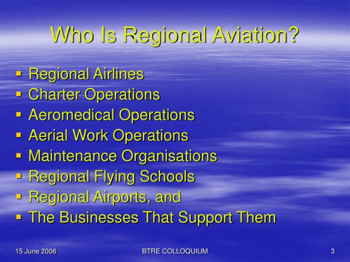 Who is regional aviation