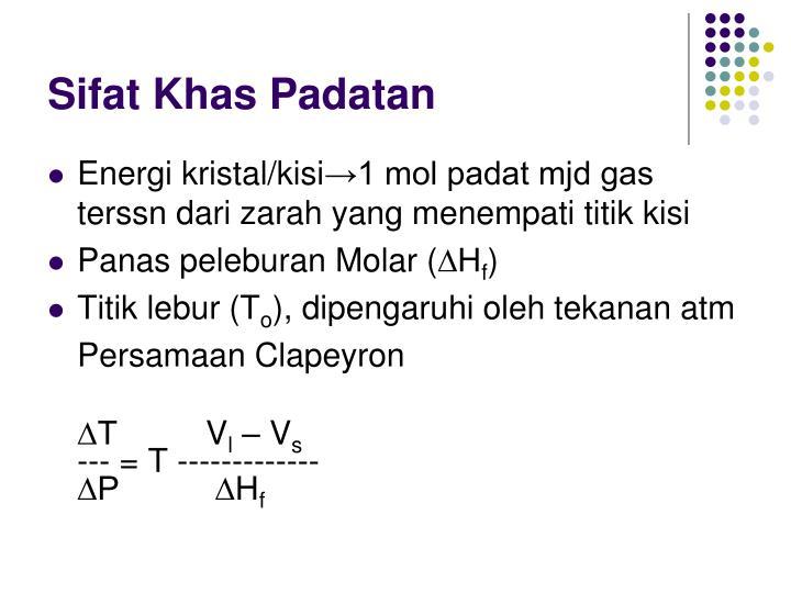 Sifat Khas Padatan