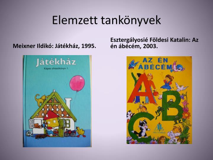 Elemzett tankönyvek
