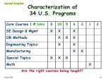 characterization of 34 u s programs