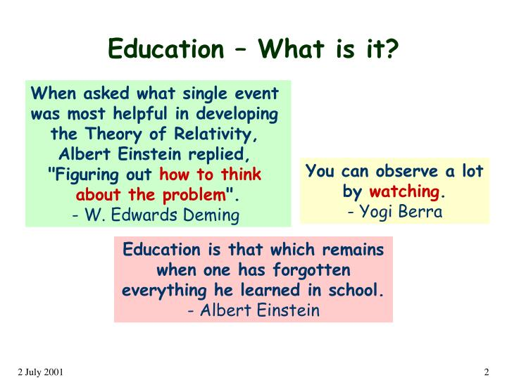 Education – What is it?